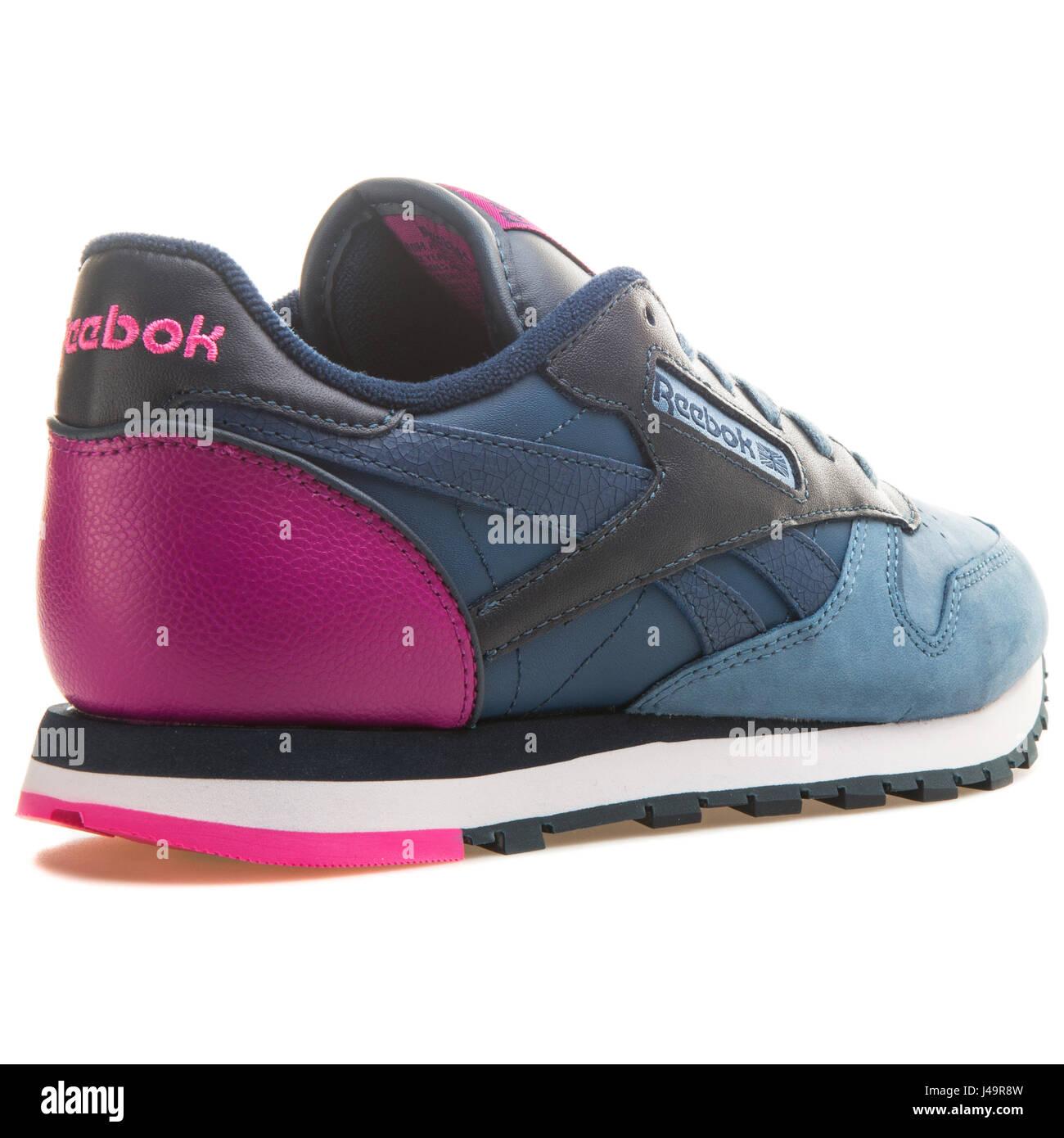 03f94bb43e3 Reebok CL LTHR PM Blue Slate - V66301 - Stock Image