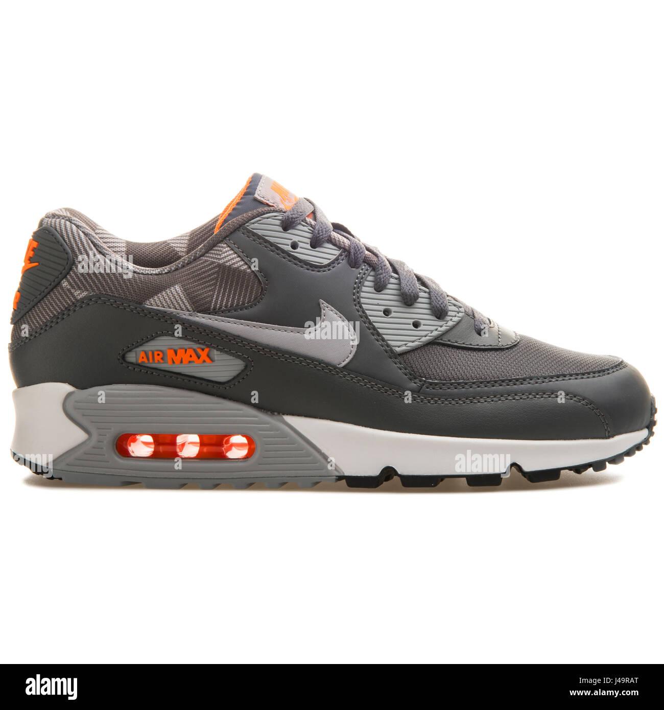 8f05485c Nike Air Max 90 Print Dark Grey White - 749817-018 Stock Photo ...