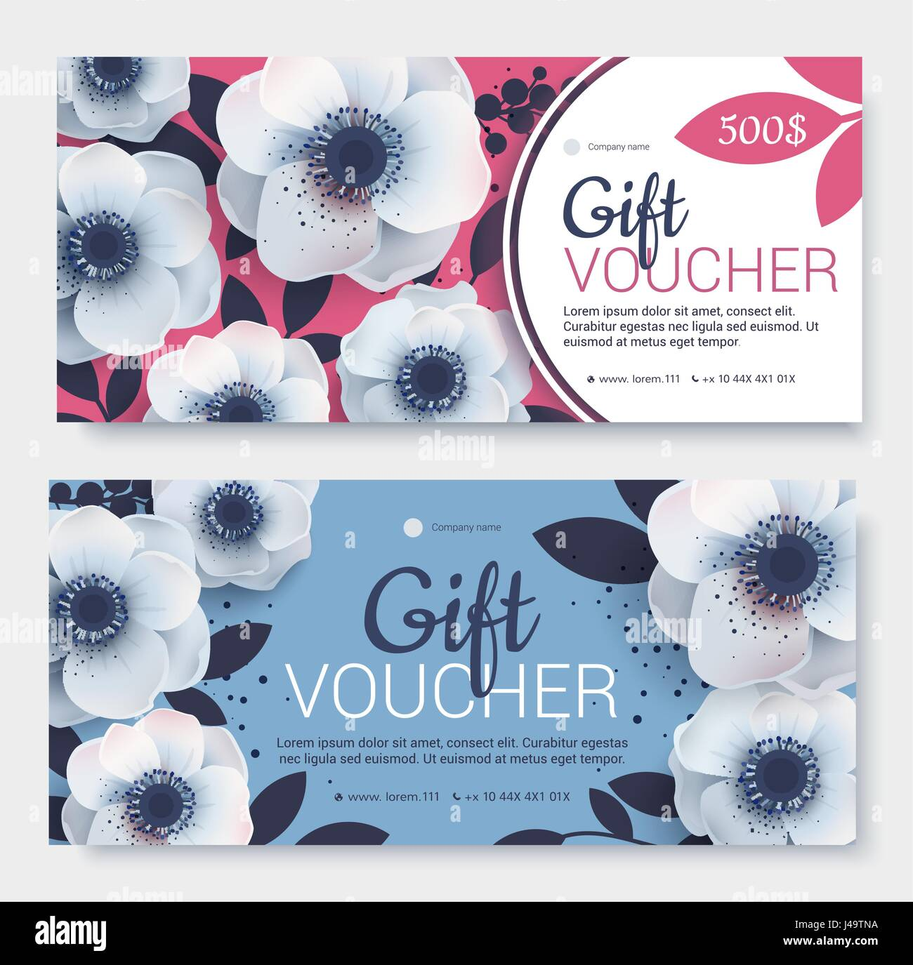 Gift Voucher Coupon Template Bright Colors Template For Design