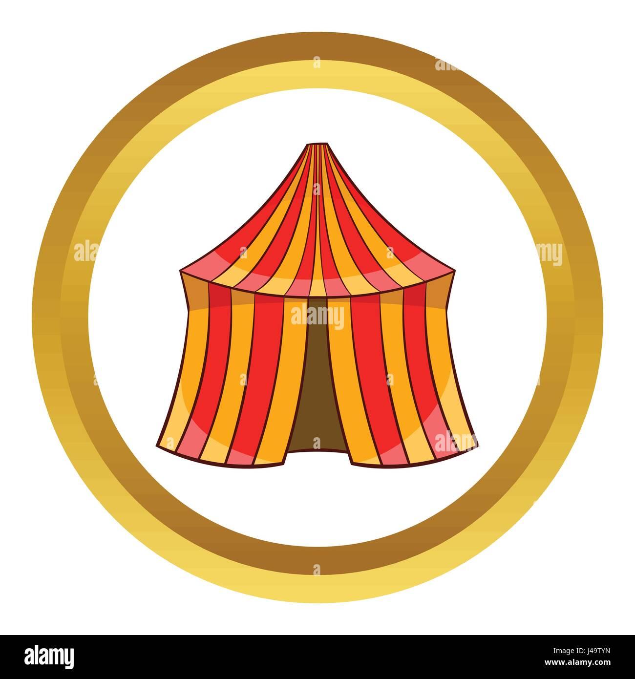 Circus tent vector icon - Stock Image