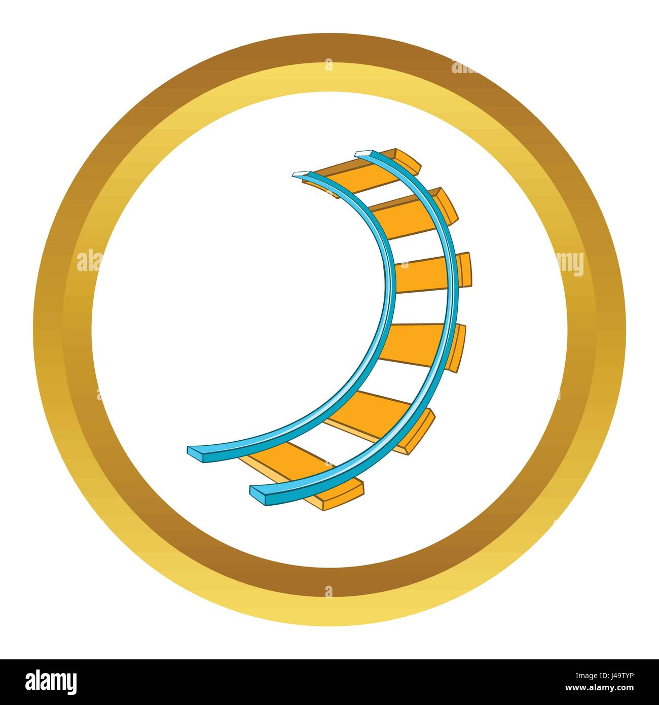 Roller coaster track vector icon - Stock Vector