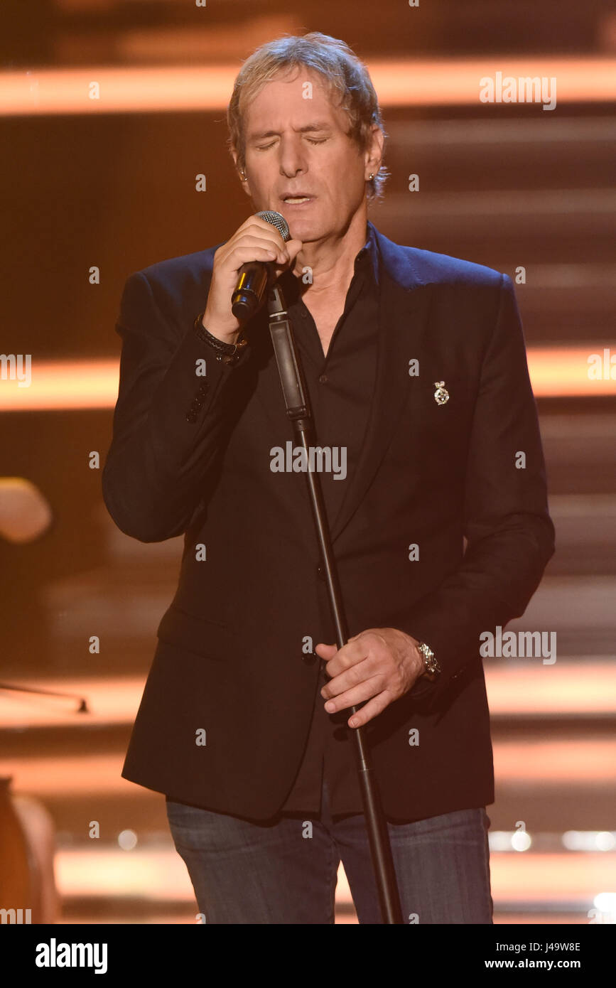 Recording of german ZDF TV show 'Willkommen bei Carmen Nebel' at GETEC Arena.  Featuring: Michael Bolton - Stock Image