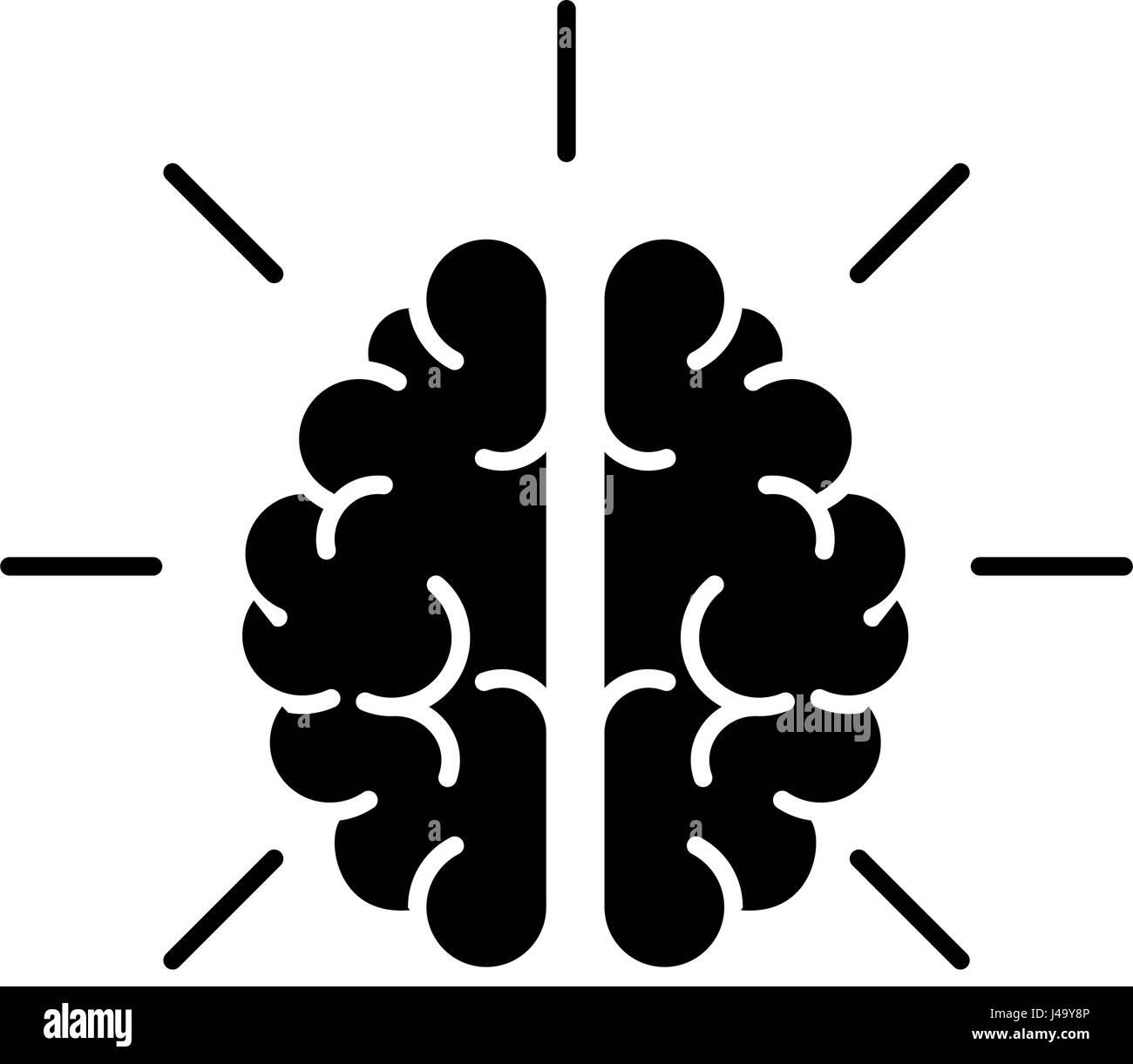 Human brain symbol - Stock Image