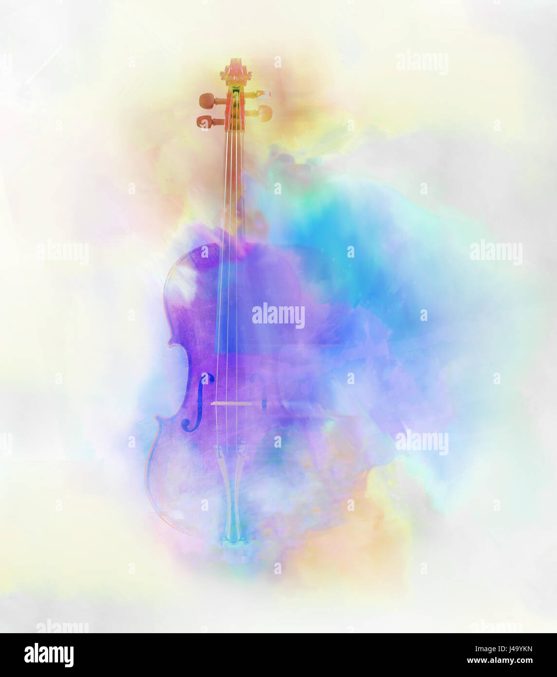 Water color image of a violin with a dream like feel. - Stock Image