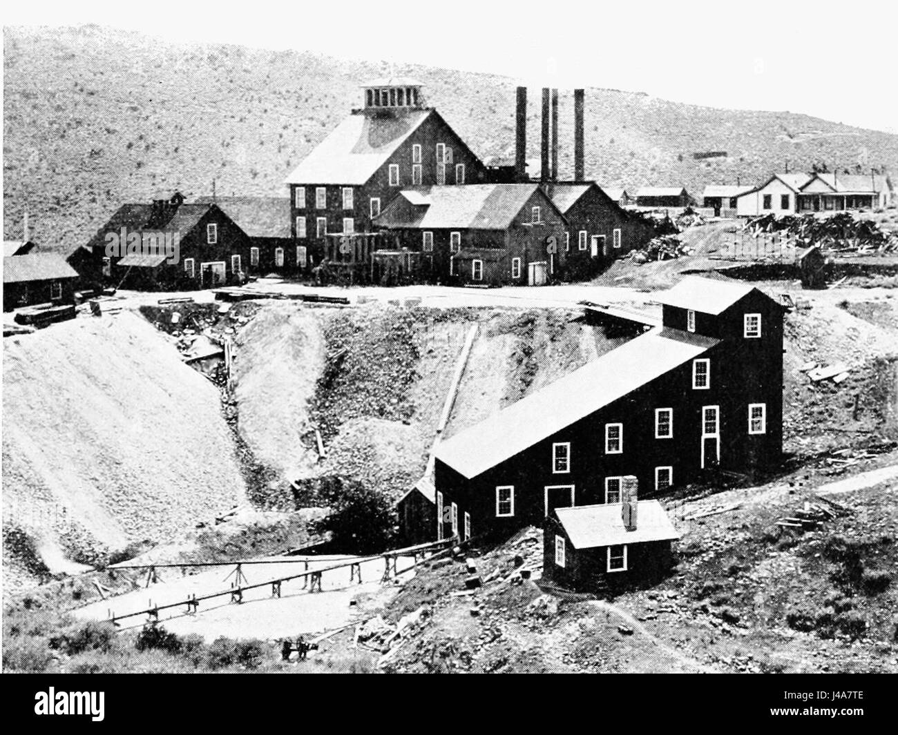 PSM V49 D771 Alta mine mill and dump on gold hill - Stock Image