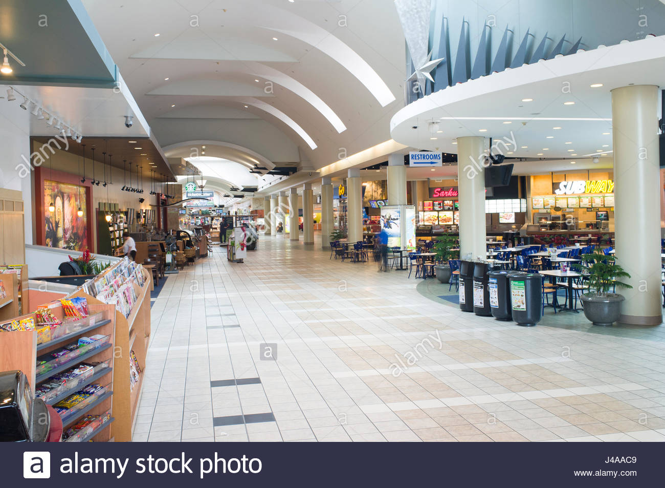 Food Court in Northgate Mall, 401 NE Northgate Way, Seattle Stock