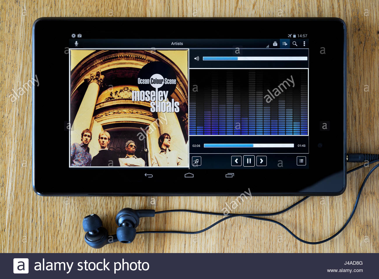Ocean Colour Scene 1996 2nd album Moseley Shoals, MP3 album cover, Dorset, England Stock Photo