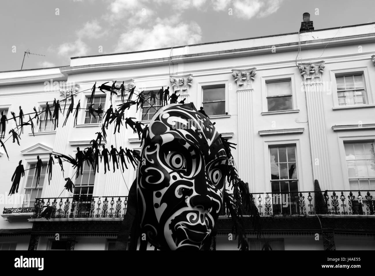 Main fesitval parade for the Notting Hill Carnival, London, UK - Stock Image