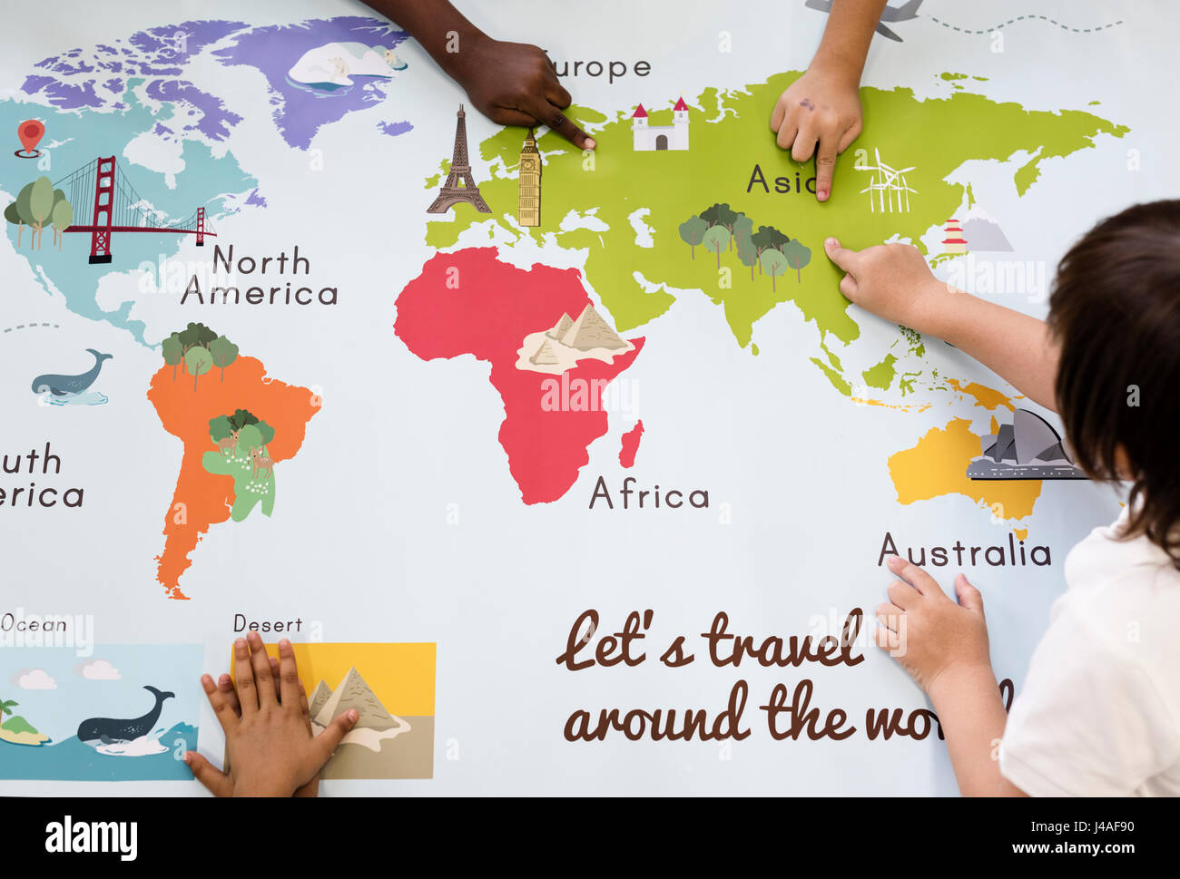 Kids learning world map with continents countries ocean geography kids learning world map with continents countries ocean geography gumiabroncs Gallery