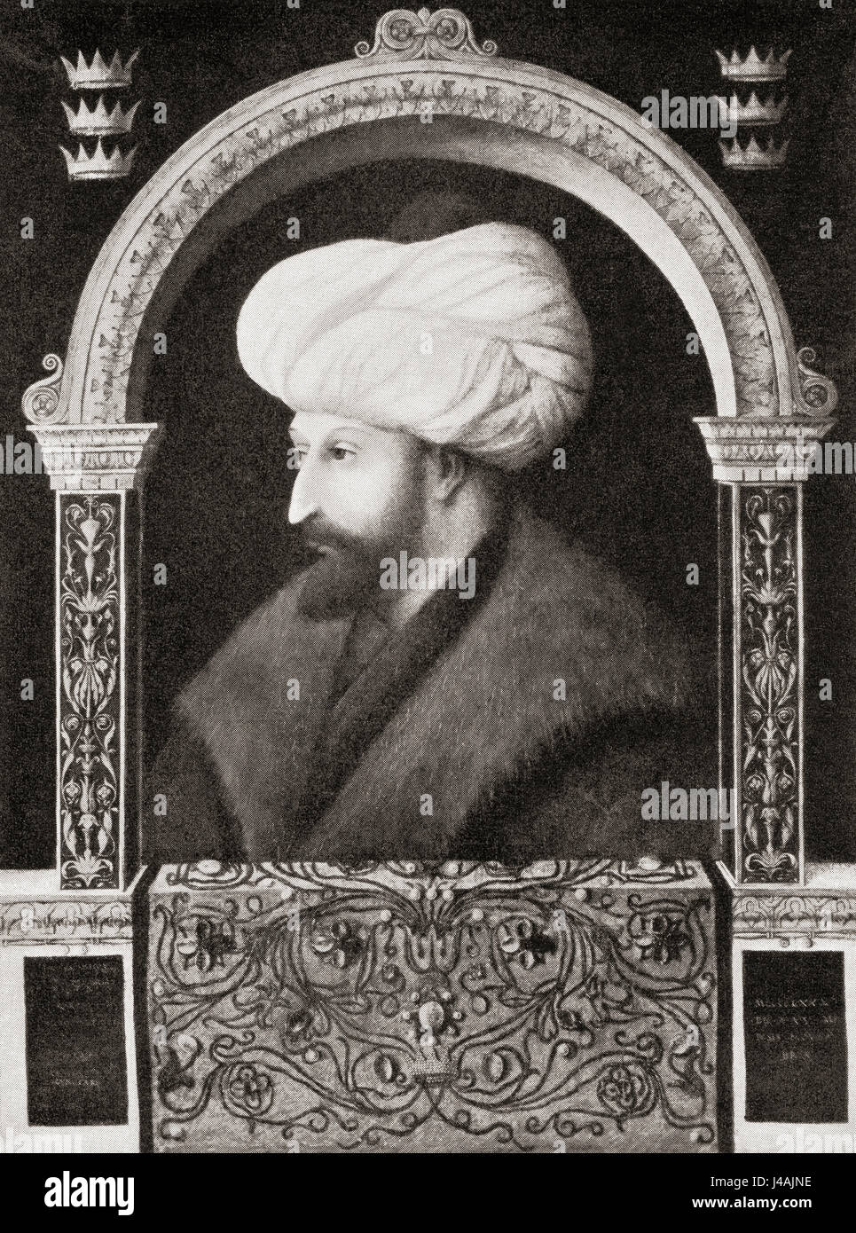 Mehmed II, 1432 –1481, aka  Mehmed the Conqueror and also Muhammed bin Murad.  7th Ottoman sultan.  From Hutchinson's - Stock Image