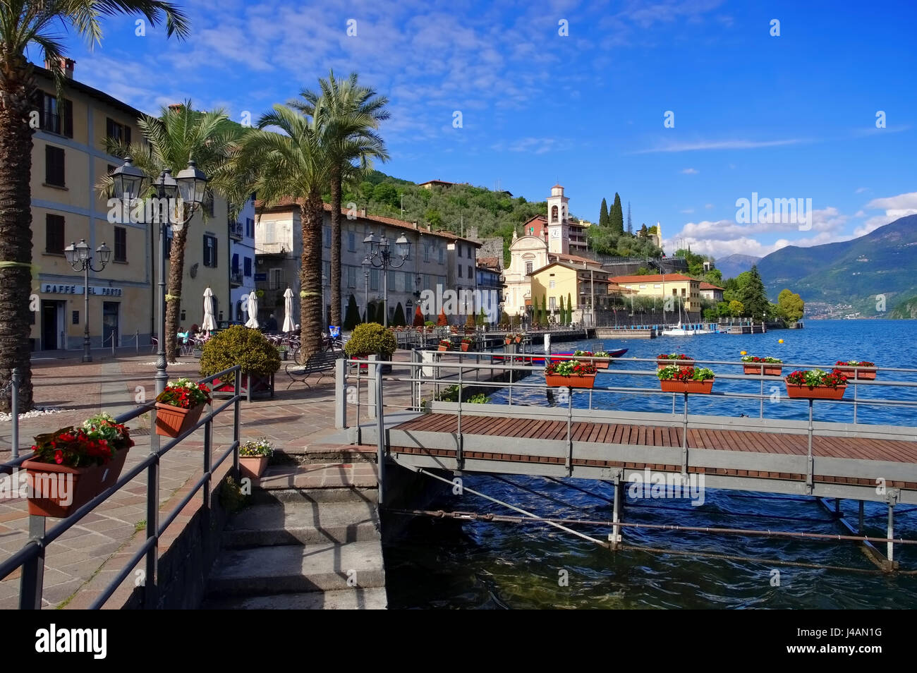 Riva di Solto Iseo lake, Lombardy in Italy Stock Photo