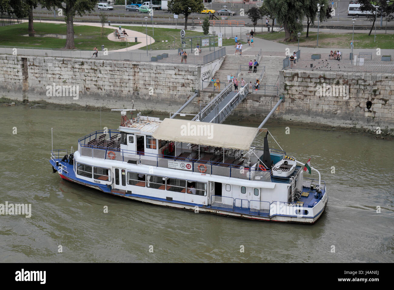 Public transport boat No 12 boat on the River Danube