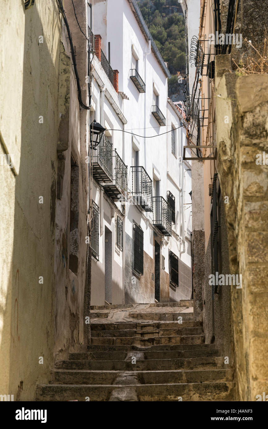 Jaen (Andalucia, Spain):  an old typical street - Stock Image