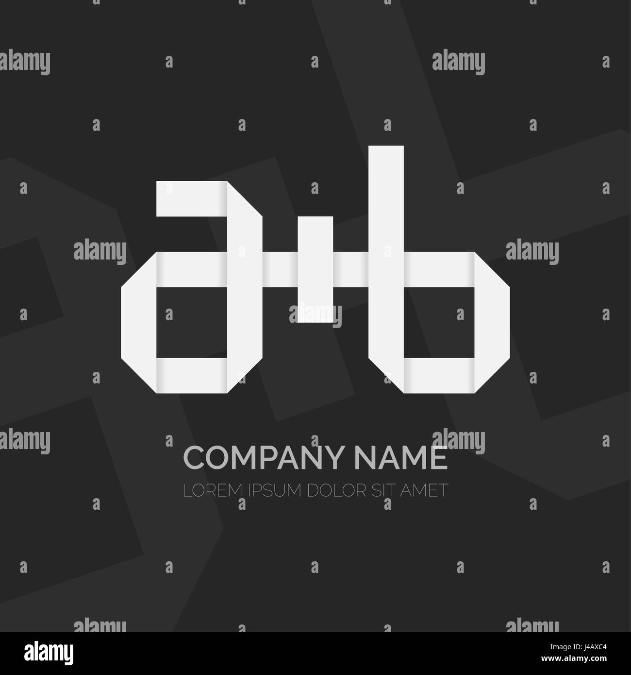 Creative Letter A Plus B Vector Logo Design Vector Sign Character