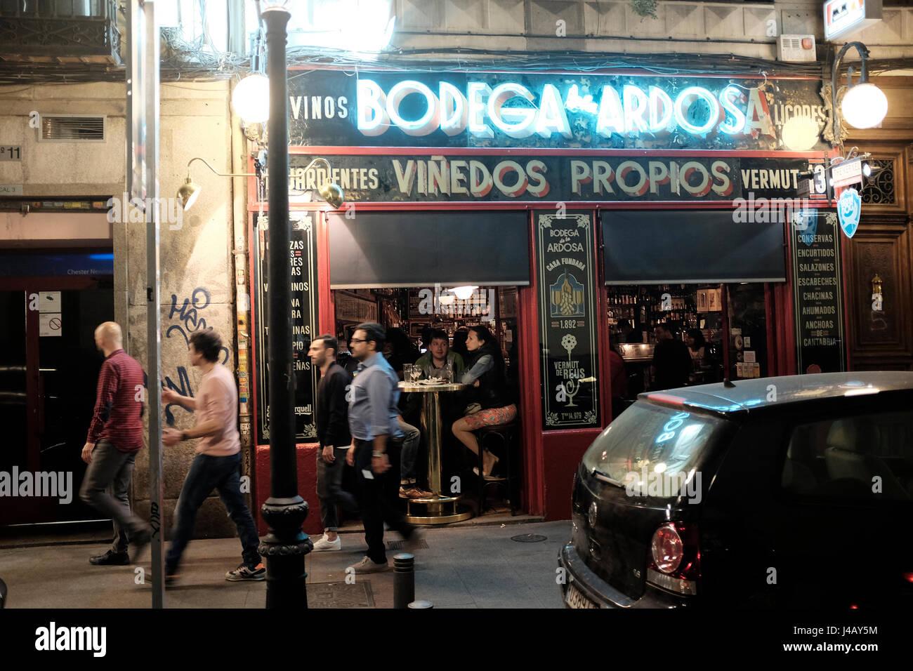 Bodega De La Ardosa Bar Madrid Spain Stock Photo 140382416 Alamy
