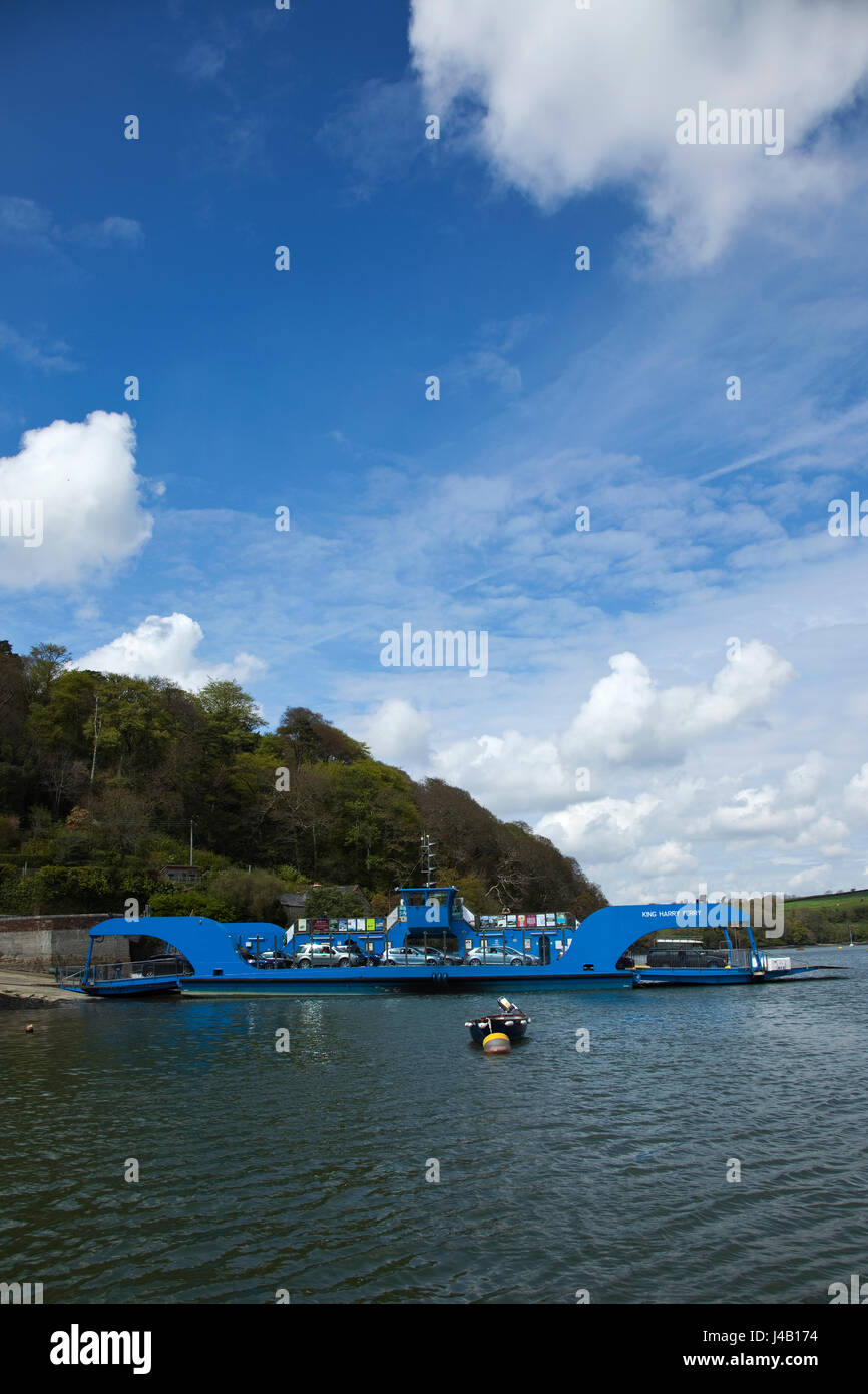 King Harry Ferry on the river Fal, Cornwall Stock Photo