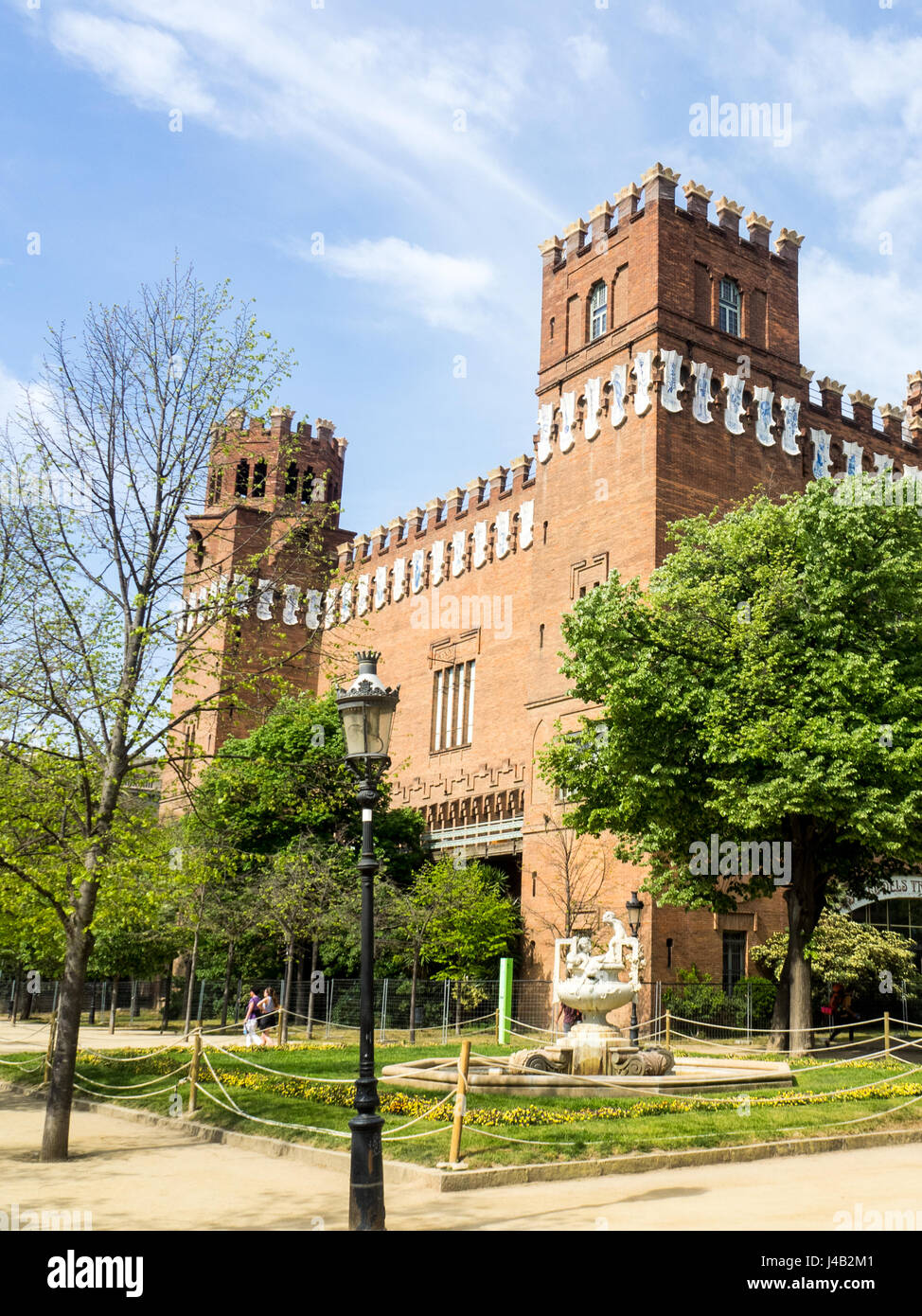 Castell dels Tres Dragons or  Castle of the Three Dragons, Barcelona, Spain. - Stock Image