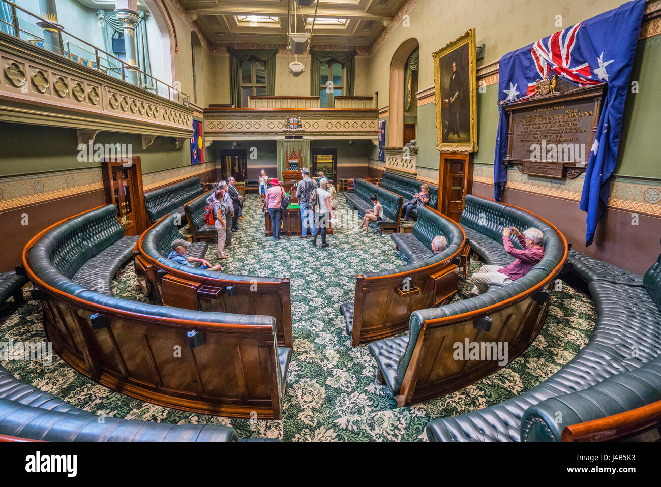 Australia, New South Wales, Sydney, the Legislative Assembly Chamber of the New South Wales Parliament during Open - Stock Image