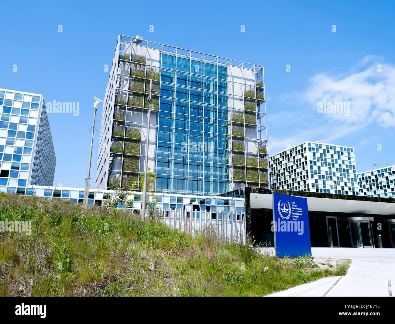 The International Criminal Court (ICC or ICCt) , intergovernmental organization and international tribunal,  in - Stock Image
