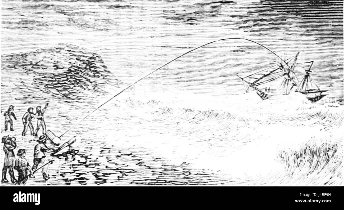 PSM V15 D200 Firing shot line to wreck - Stock Image