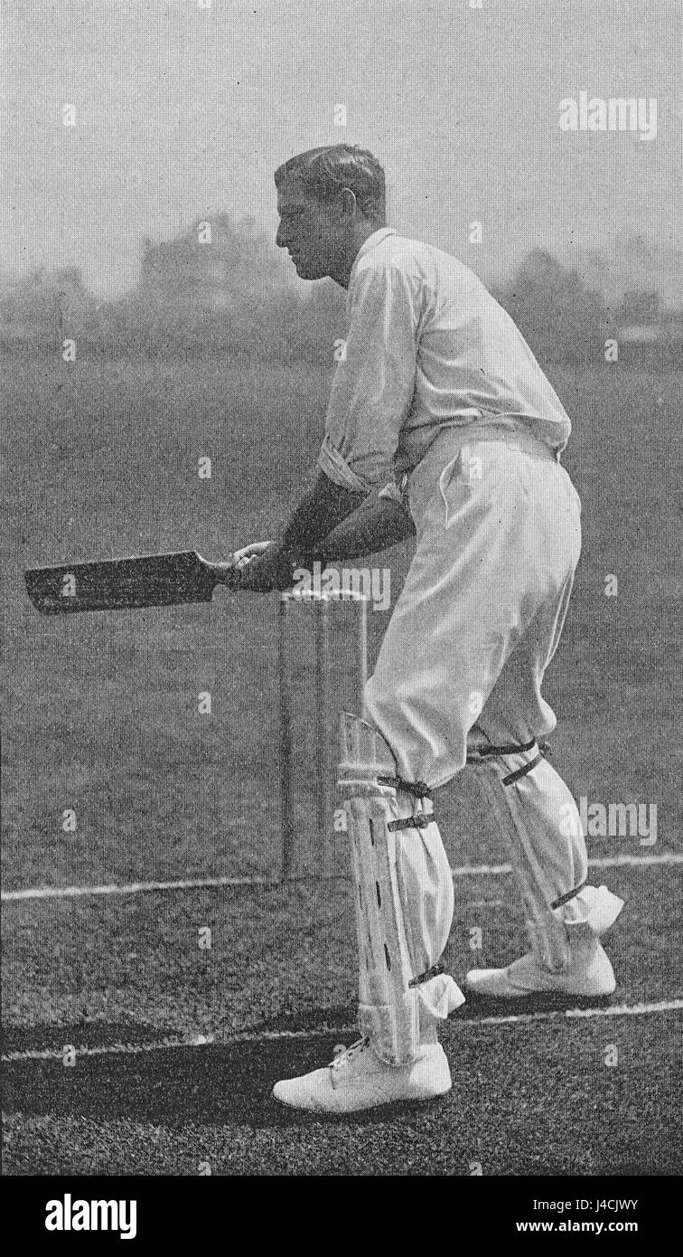 Ranji 1897 page 419 S. M. J. Woods cutting with left foot forward - Stock Image