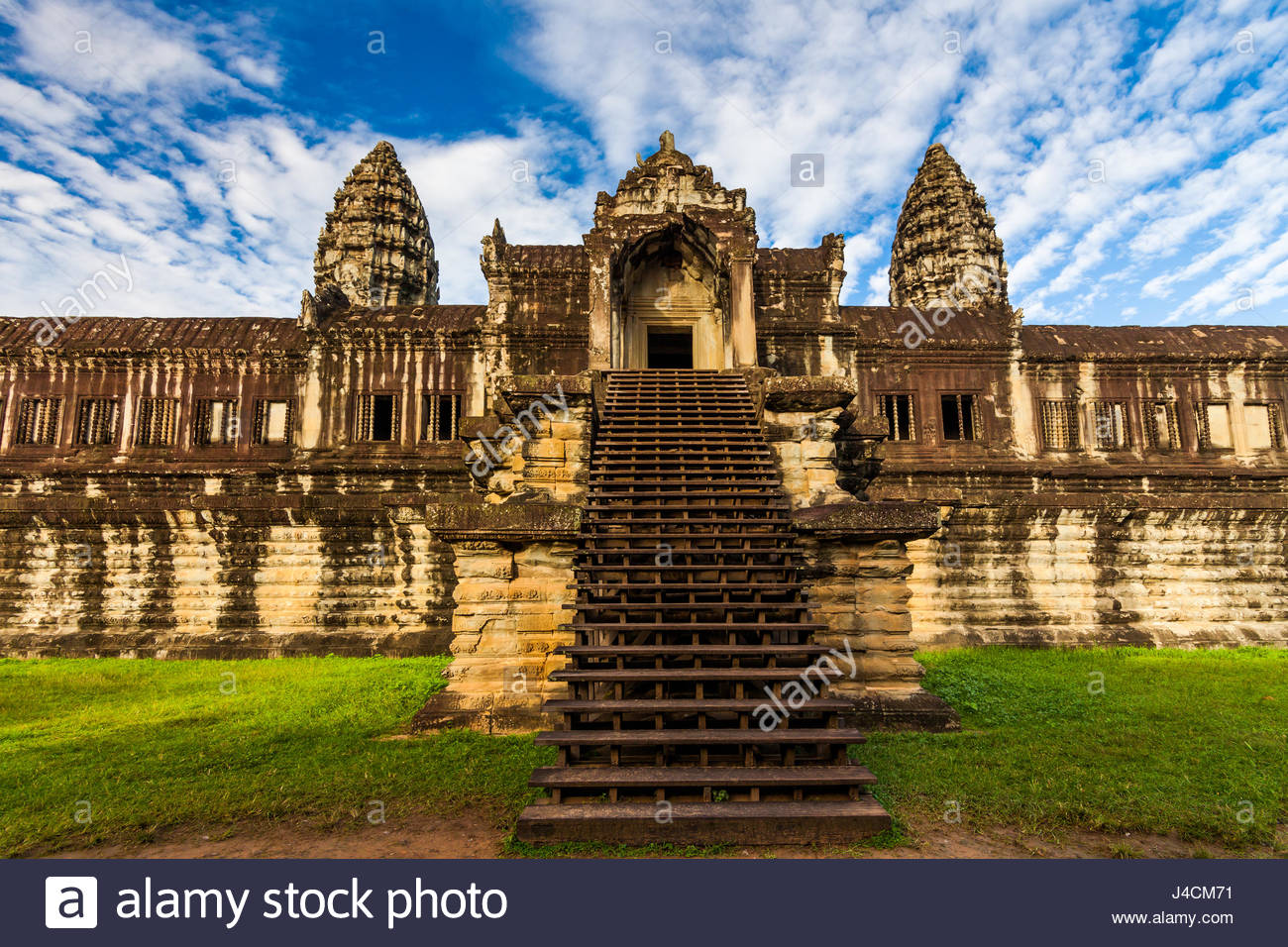 Ancient temple against a beautiful sky. Angkor Wat, Cambodia. - Stock Image