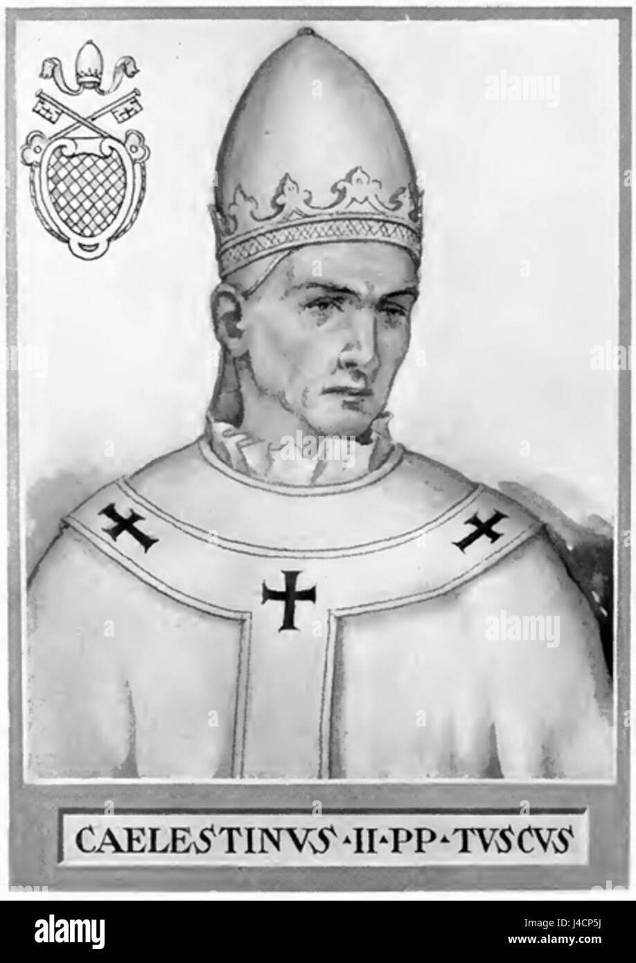 Pope Celestine II - Stock Image