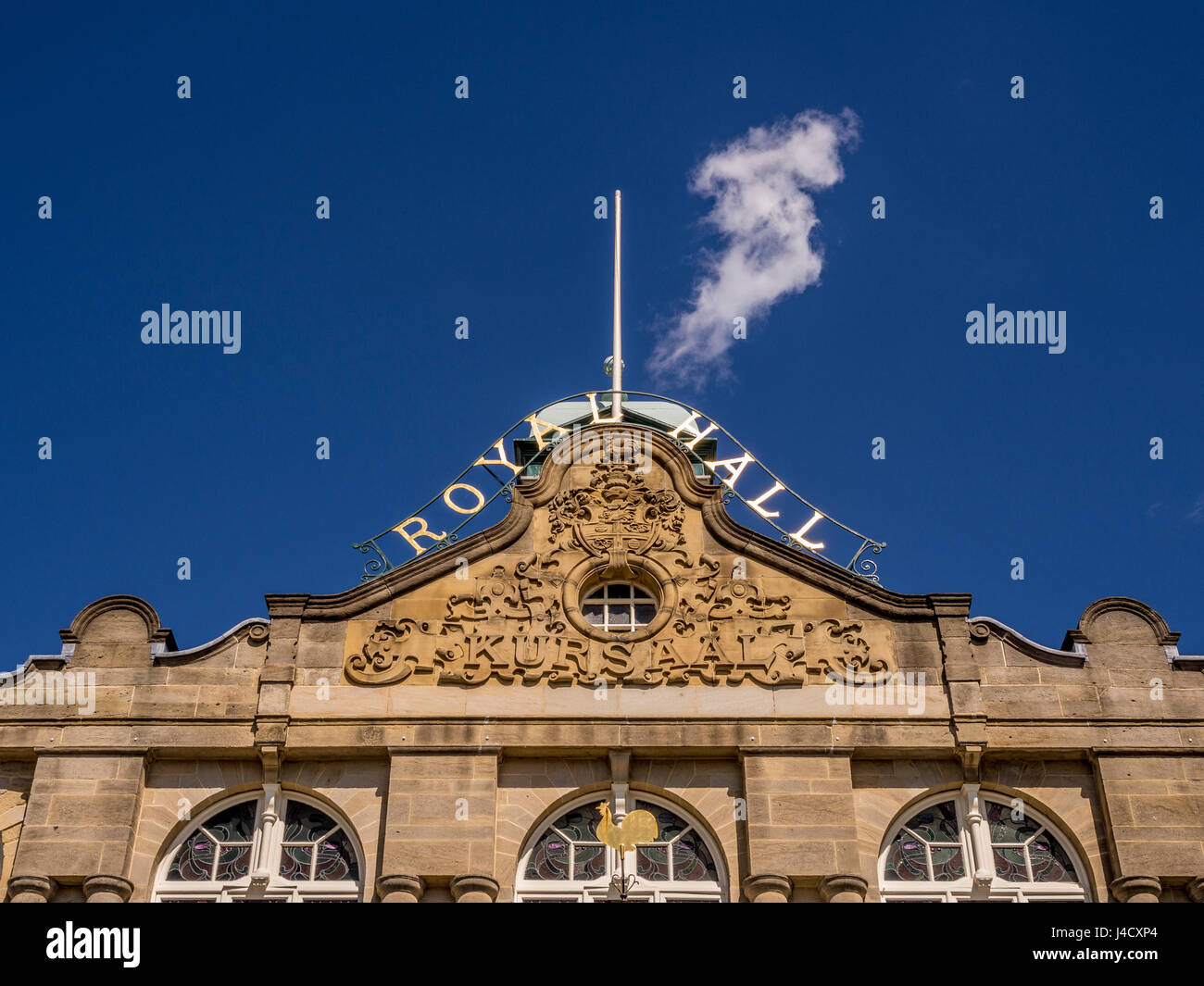 The Royal Hall,  a Grade II listed performance hall and theatre, Harrogate, UK. - Stock Image