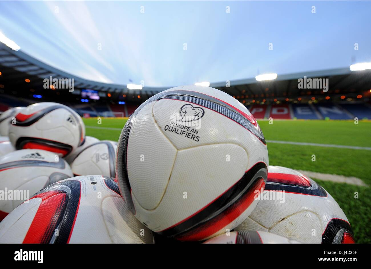 EUROPEAN QUALIFIERS OFFICIAL F SCOTLAND V NORTHERN IRELAND HAMPDEN PARK GLASGOW SCOTLAND 25 March 2015 - Stock Image