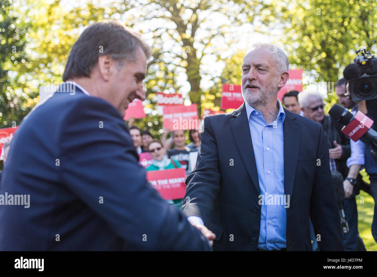 Jeremy Corbyn, Leader of the Labour Party, oins newly elected Metro Mayor of the Liverpool City Region Steve Rotheram - Stock Image
