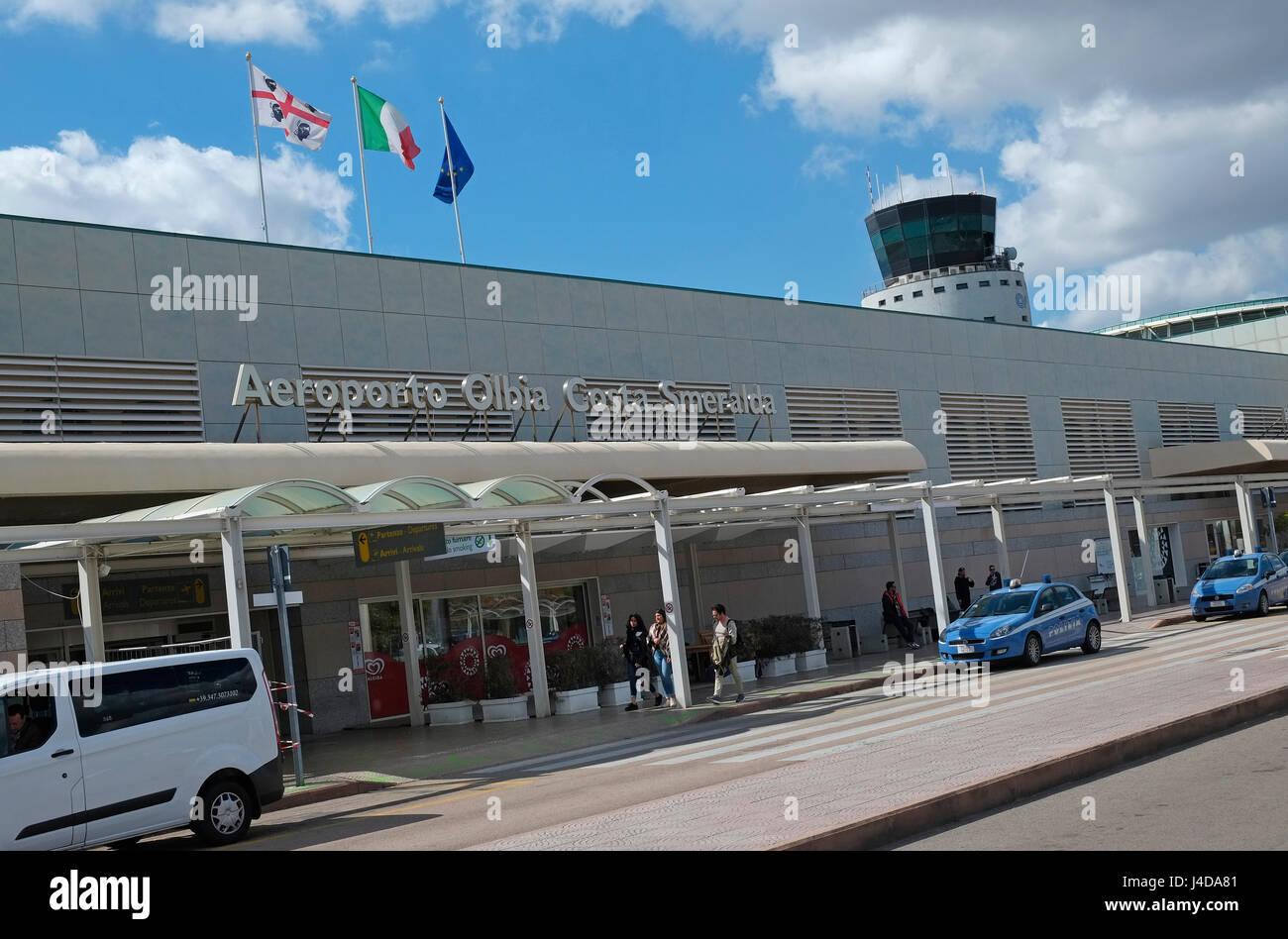 olbia airport, sardinia, italy - Stock Image