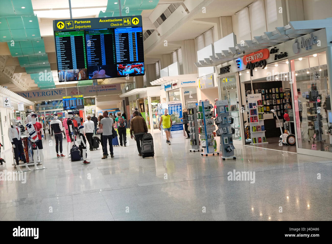 interior of olbia airport, sardinia, italy - Stock Image