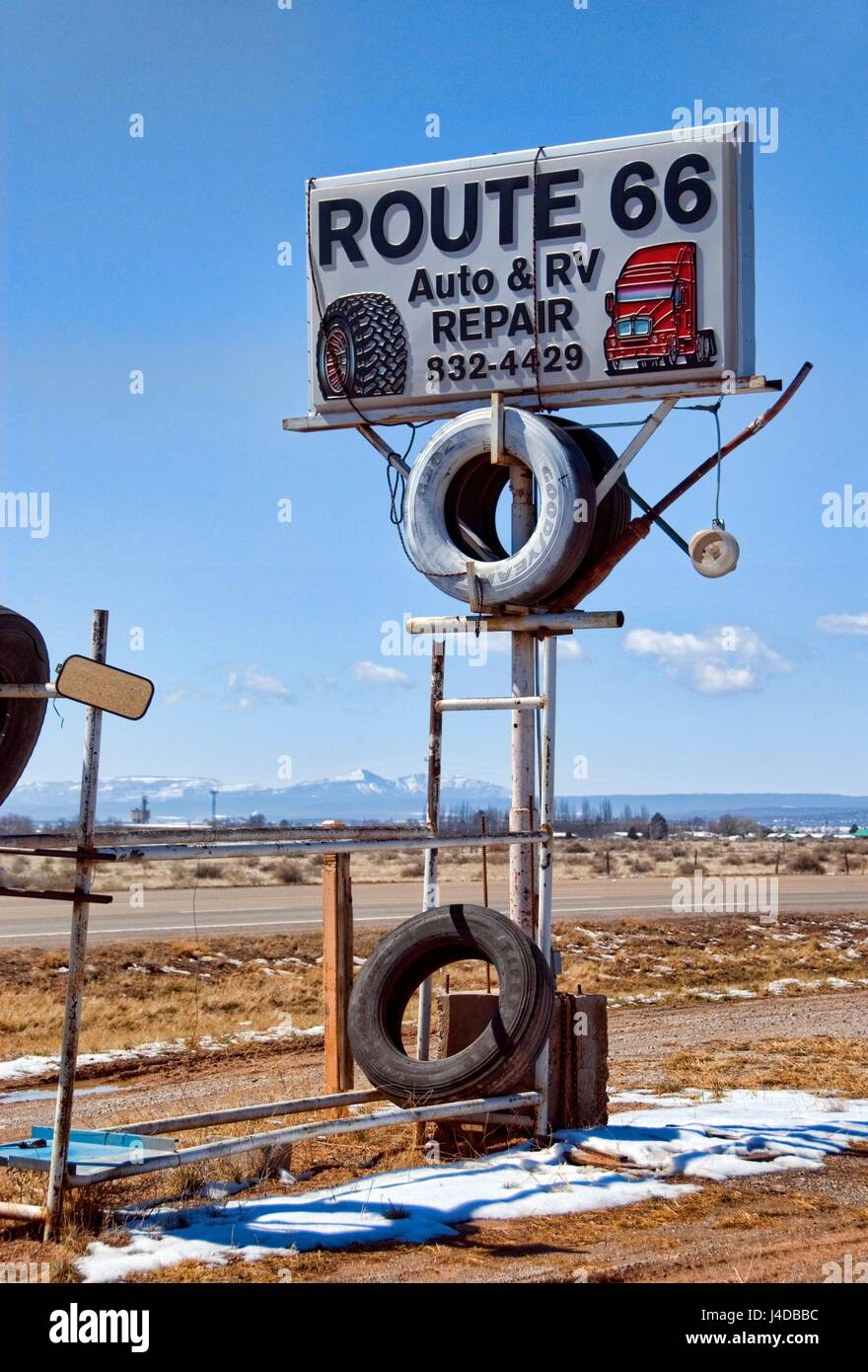 route 66 auto & rv repair stock photo: 140435888 - alamy