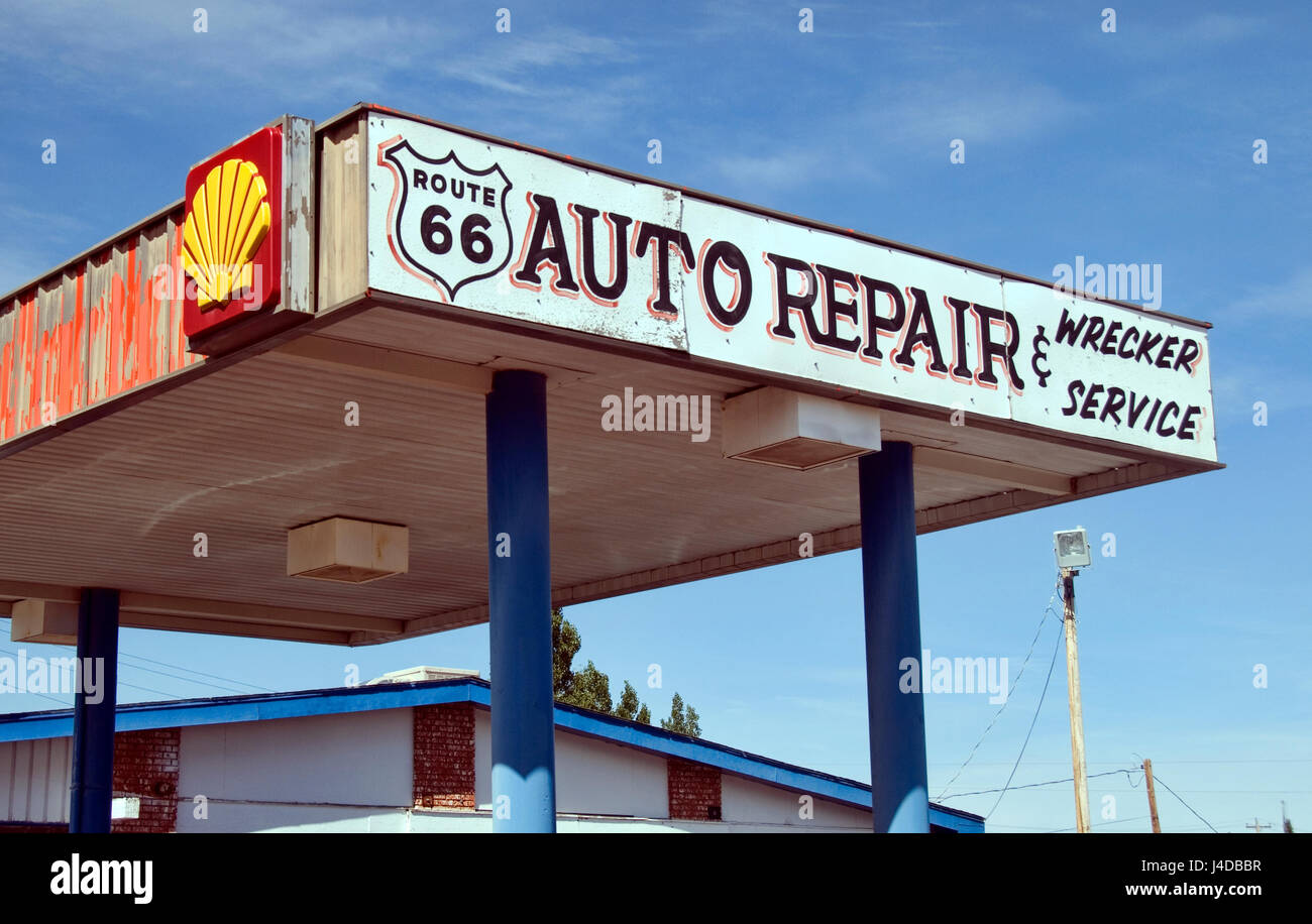 route 66 auto repair & wrecker service stock photo: 140435899 - alamy