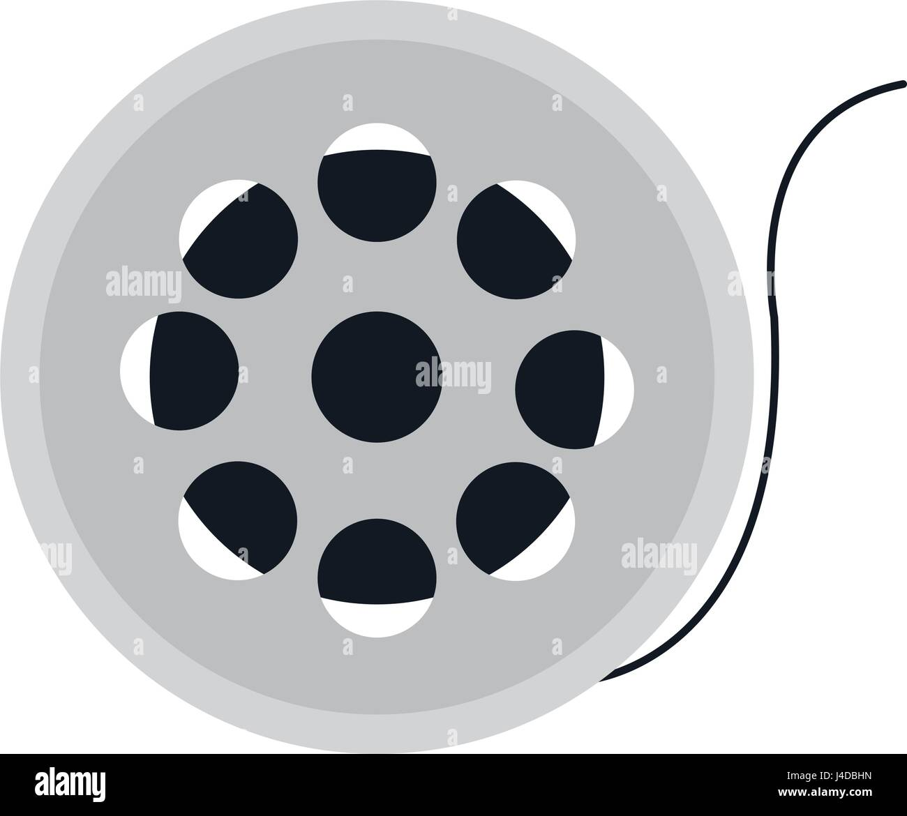 reel film isolated icon Stock Vector