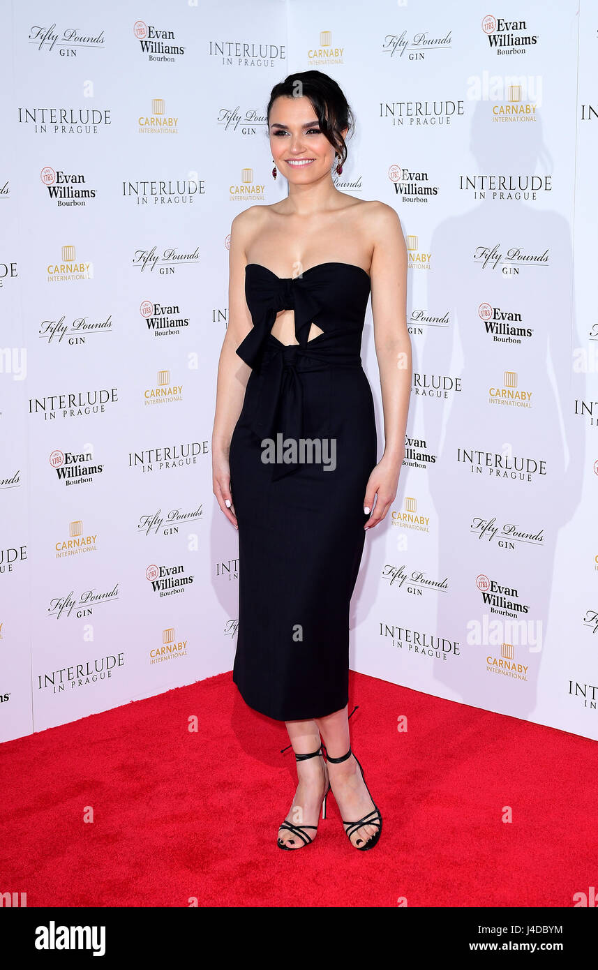 Samantha Barks arriving for the Interlude In Prague World Premiere held at the Odeon Leicester Square, London. - Stock Image