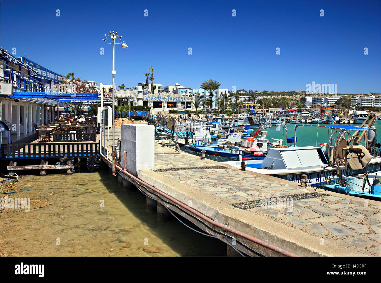 The fishing port of Ayia Napa, famous tourist resort in Cyprus island. - Stock Image
