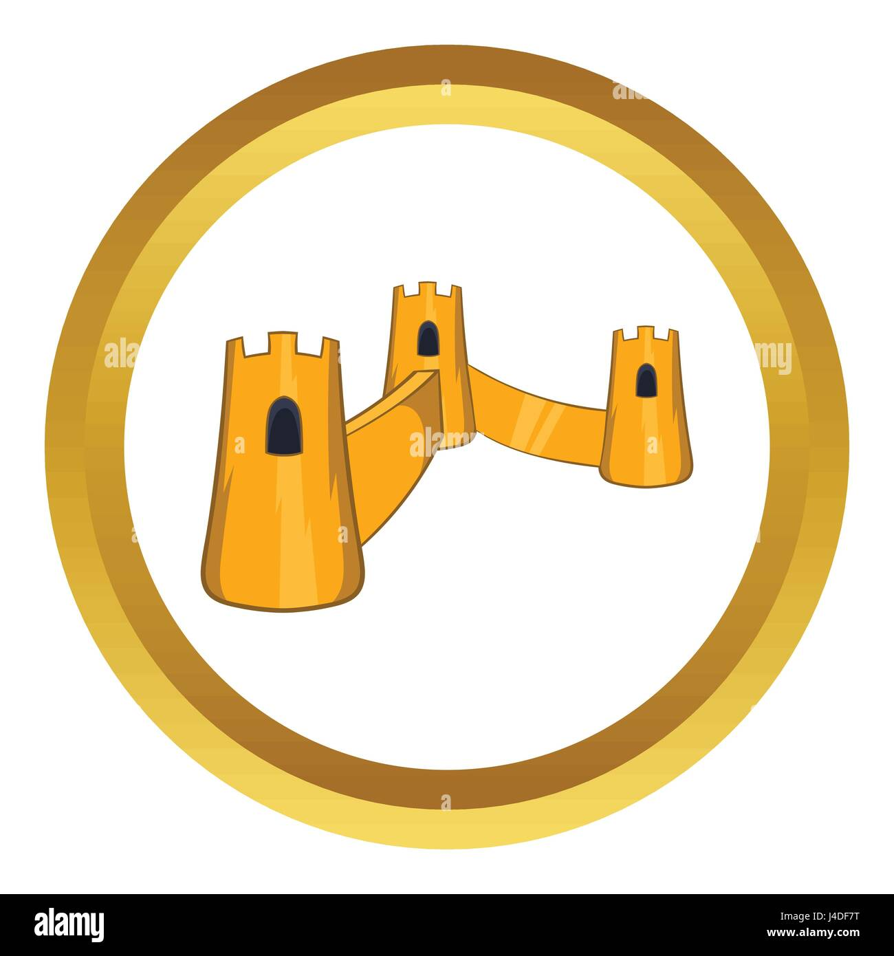 Great Wall of China vector icon Stock Vector Art & Illustration ...