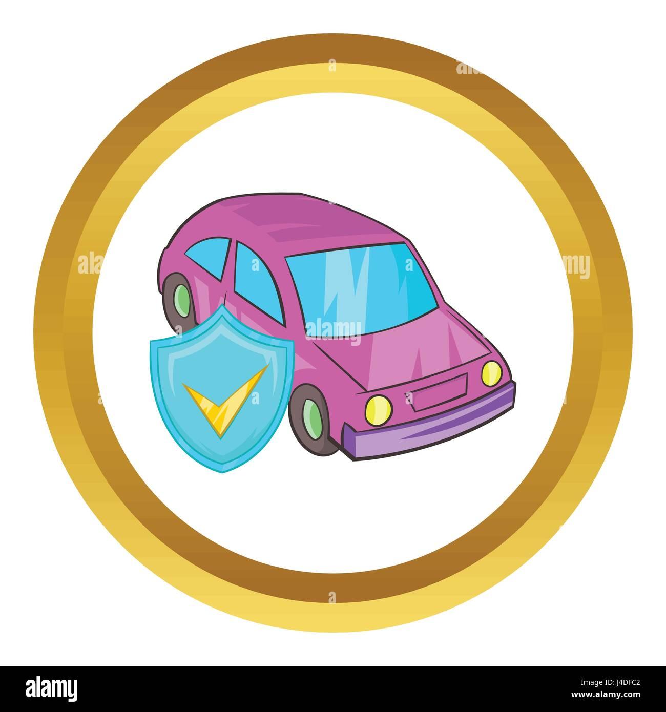 Car insurance vector icon Stock Vector
