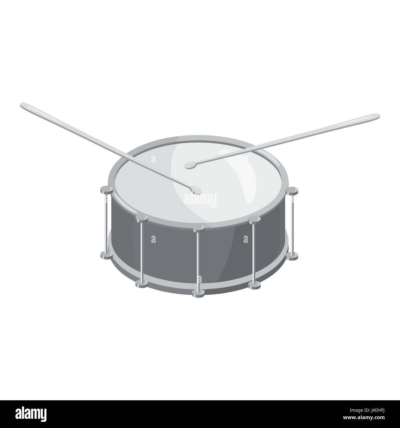 Drum Sticks Instrument Stock Photos Snare Diagram With Icon Gray Monochrome Style Image