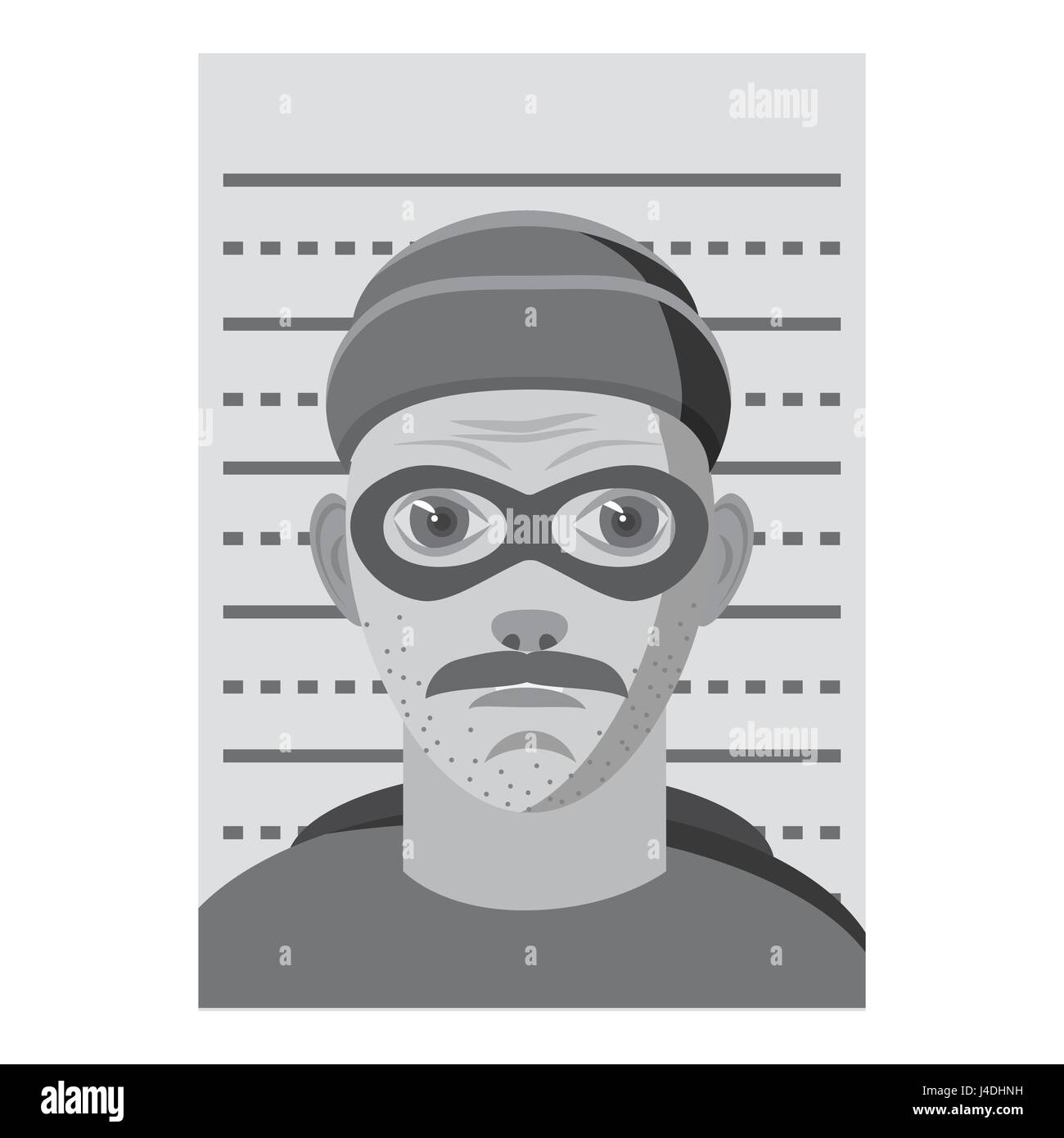 Man arrested icon, gray monochrome style - Stock Image
