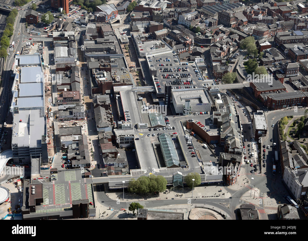 aerial view of Stockport, Manchester, UK - Stock Image