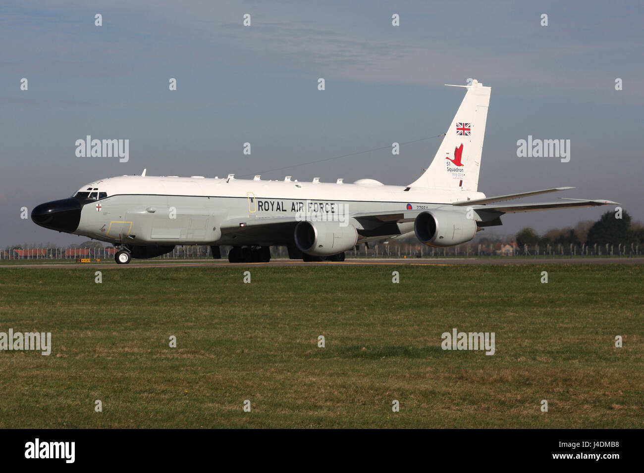 RAF RC135 AIRSEEKER RIVET JOINT Stock Photo