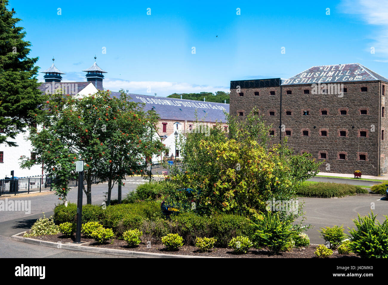 Old Bushmills Distillery Northern Ireland - Stock Image