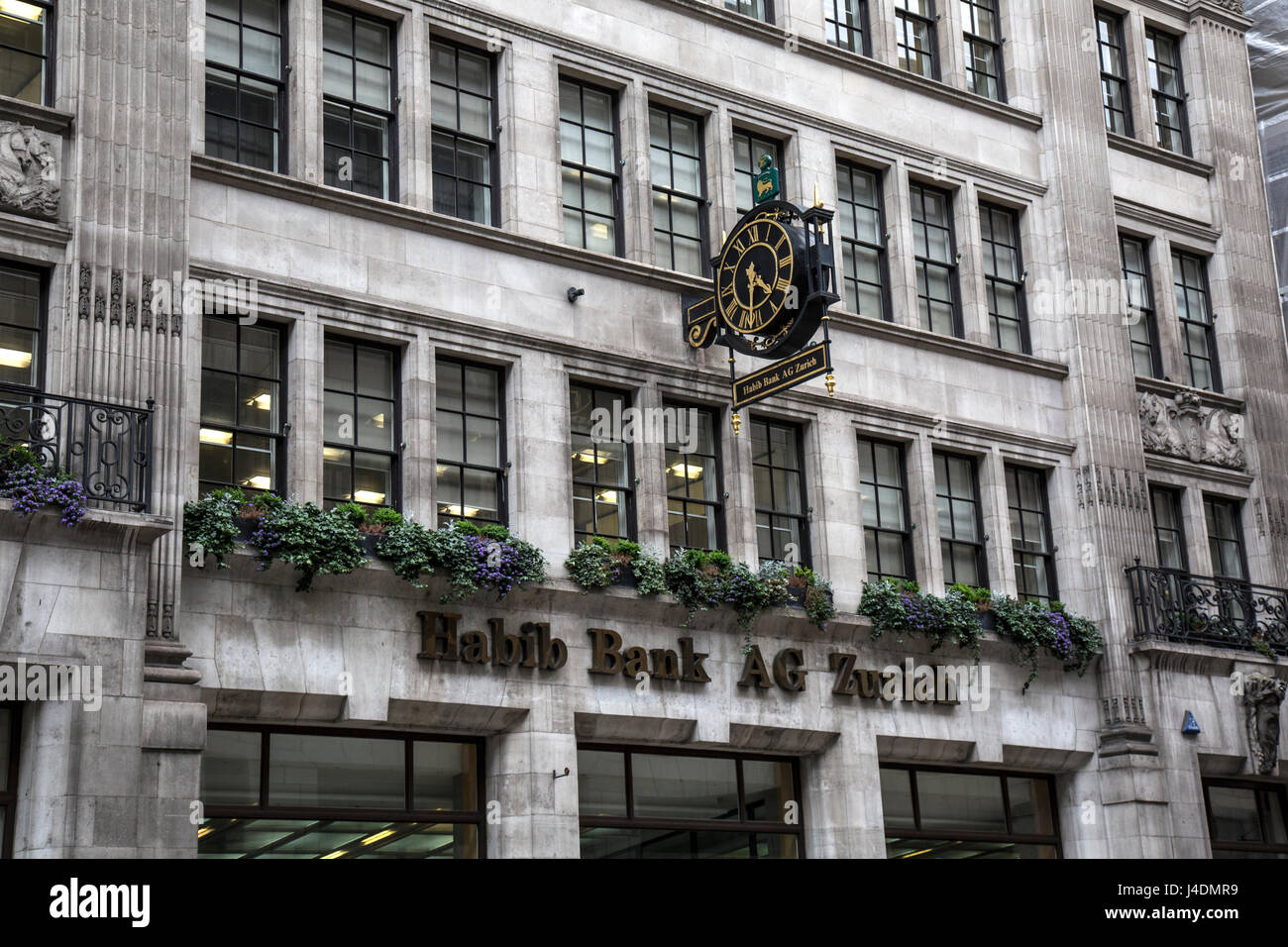 Habib Bank AG Zurich, 42 Moorgate, London. - Stock Image