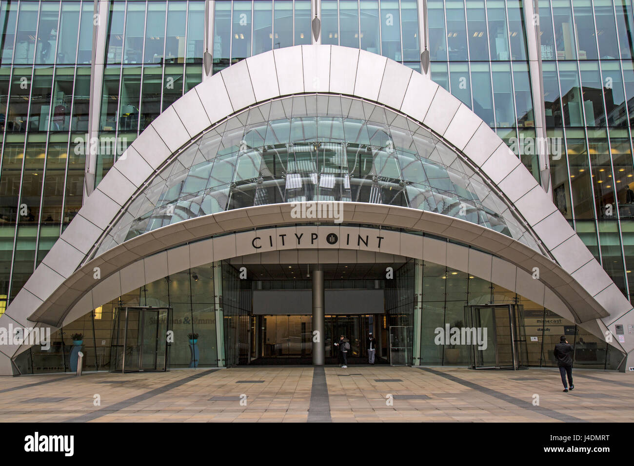 Entrance to the Citypoint Business centre on Ropemake Street in London. - Stock Image
