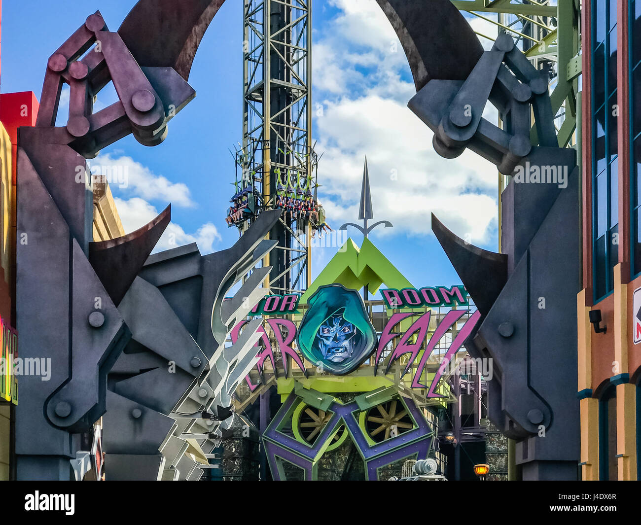 Marvel Super Hero Island, Islands of Adventure, Universal Studios Orlando is a theme park resort in Orlando, Florida. - Stock Image