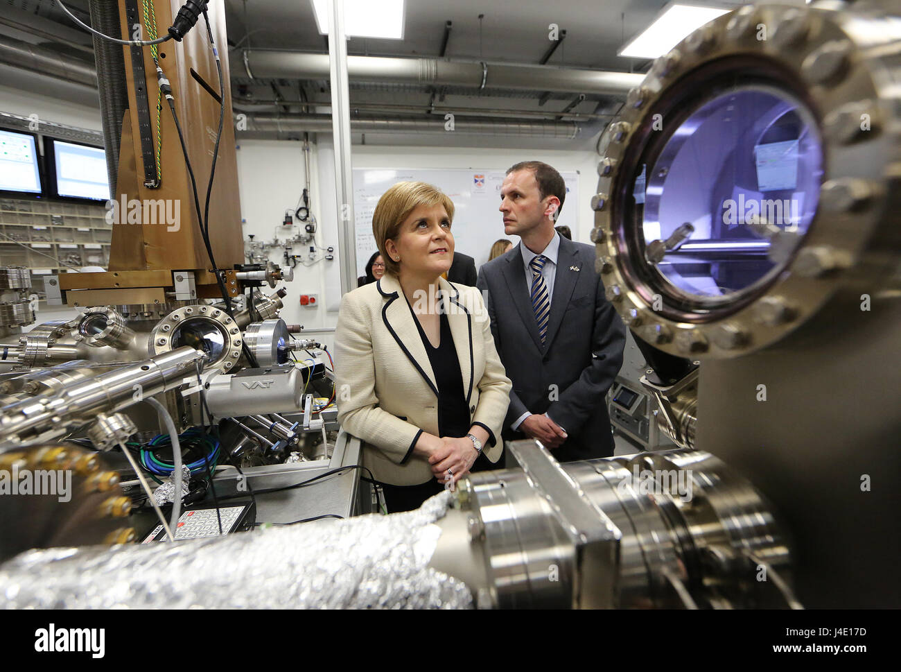 Fife, Scotland, UK. 11th May, 2017. Nicola Sturgeon MSP SNP Leader on the GE  campaign trail in North East Fife - Stock Image