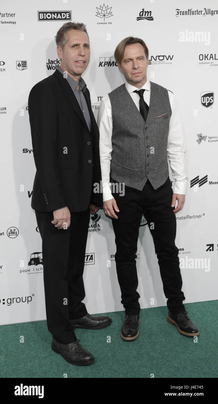 The band Johnny Hates Jazz arrives at the Green Tec Award ceremony in Berlin, Germany, 12 MAy 2017. Photo: Jörg Stock Photo