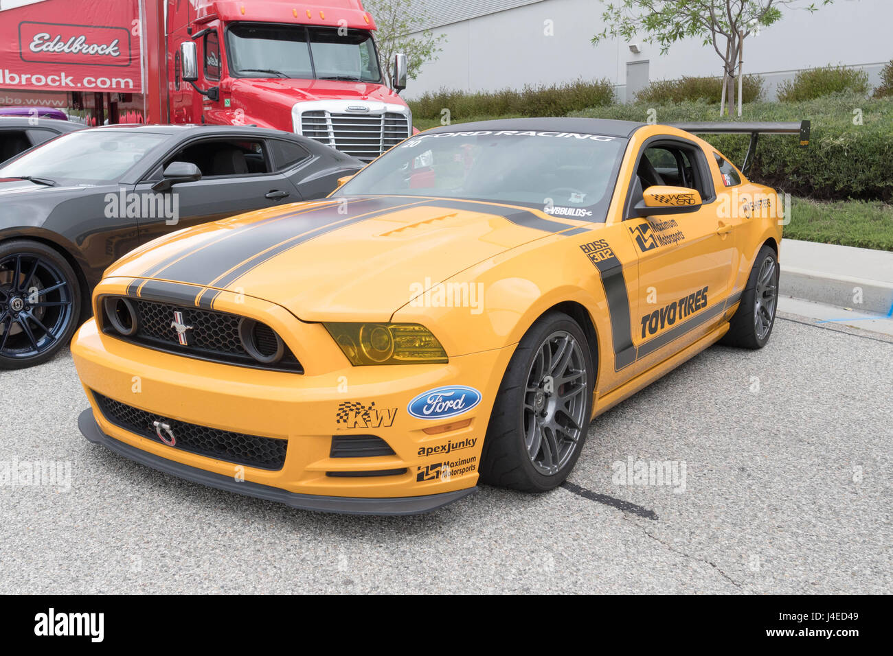 Torrance usa may 5 2017 ford mustang 5th generation on display during 12th annual edelbrock car show
